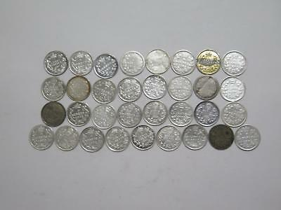 Canada 5 Cents Silver Type Mixed Date Old World Coin Collection Lot