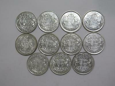 Canada 50 Cents Silver Type Mixed Date Old World Coin Collection Lot #a