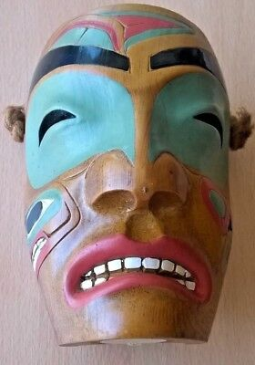 Tribal wooden painted mask, collectable wooden tribal mask