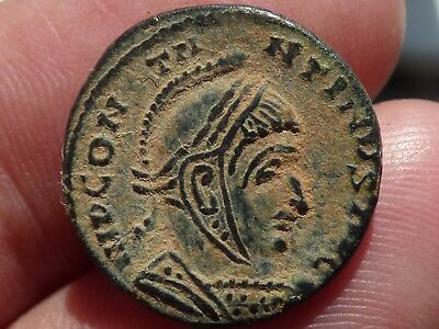 """Nice Uncleaned Roman Coin """"Desert Patina"""" - Constantine"""