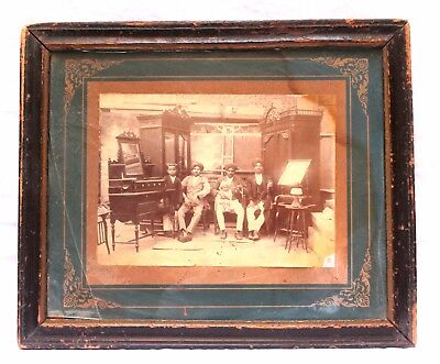 Indian Old Vintage Unique Original  Photograph With Frame Royal Family WD 077