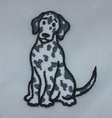 Embroidered Dalmatian Spotted Puppy Dog Breed Patch Applique Jacket Iron On Sew