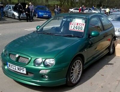 2002 MG ZR 160 LE MANS GREEN 89K  FSH HUSBAND & WIFE OWNED Excellent + Condition
