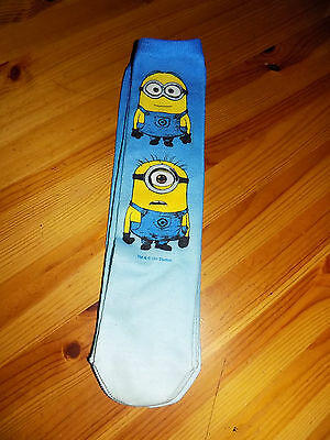 """children's Minion socks size 12 -3.5 approx """" two designs to choose from"""""""