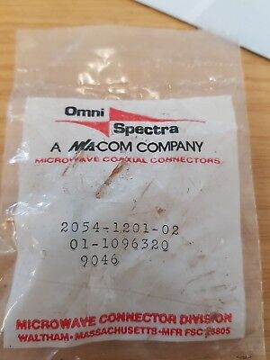 M/A-COM 2054-1201-02 RF Connector. Free tracked postage.