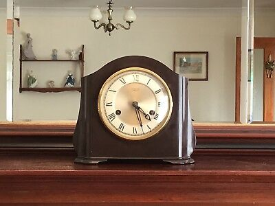 Vintage Smiths Enfield Chimming Wind Up Clock With ( Acoustic Chime Mechanism ).