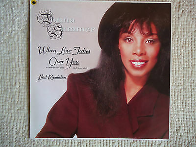 When Love Jakes Over by Donna Summer- EP 45 Upm-  (1989)