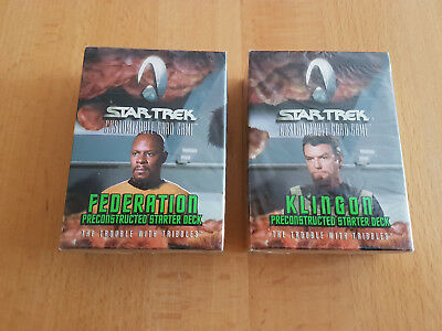 """Star Trek CCG """"The Trouble With Tribbles"""" Preconstructed Starter FED und KL"""