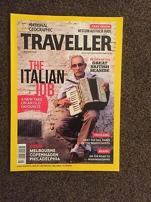 NATIONAL GEOGRAPHIC TRAVELLER MAY 2018 ITALY THAILAND BRAZIL - NEW and UNREAD