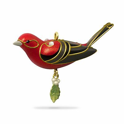 Hallmark Keepsake 2018 Mini Red Tanager Bird Ornament, 1.13""