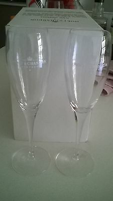 Moet Chandon crystal flutes - set of 6, BNIB, unique collectables