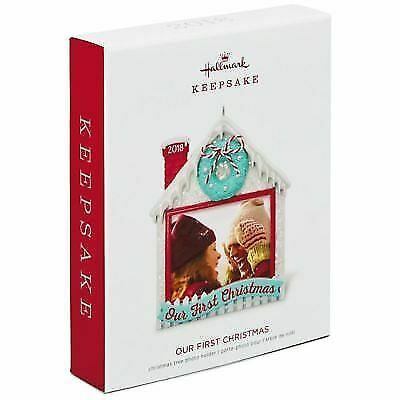 Hallmark Keepsake 2018 Our First Christmas Photo Ornament
