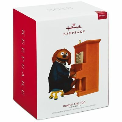 Hallmark Keepsake 2018 The Muppets Rowlf the Dog Ornament With Sound