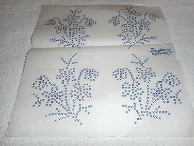 Vintage Embroidery Iron on Transfer - Deightons No.K2443/4 - Flowers