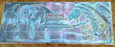 Blue Eyes White Dragon playmat - Rare mat from Structure Deck Saga of BEWD event
