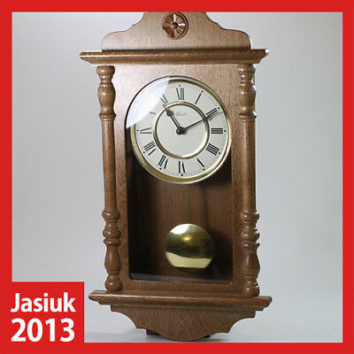 old rare vintage HERMLE Germany Pendulum Wooden Case Wall Hanging Clock