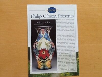 Moorcroft Ephemera  Moorcroft Philip Gibson Presents Collection Brochure