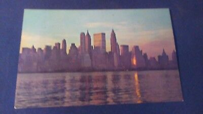 Schöne AK New York City Lower Manhattan Skyline Wall Street ungel. um 1970 ny26