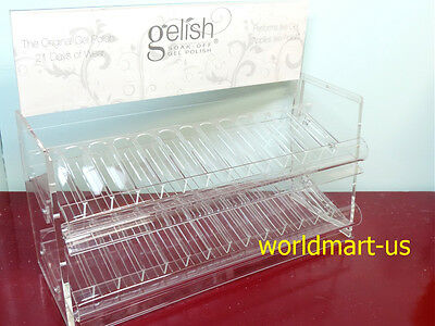Harmony Gelish Table Rack Clear Counter SALON Display Color Hold 112 Bottles