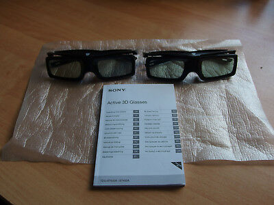 2 × NEUE Original SONY Active 3D Glasses Bravia TV-TDG-BT400A