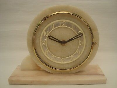 Marti Art Deco Marble / Onyx Mantle Clock
