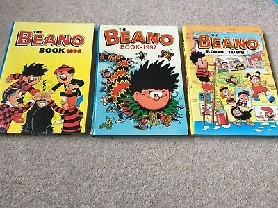 The Beano Annuals X 3 1996 1997 1998 Unclipped