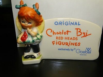 Vintage Original Charlot Byj  Red Heads Figurines By Goebel Store Sign Placard