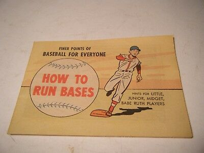 Vintage 1962 Finer Points Of Baseball For Everyone: How To Run Bases