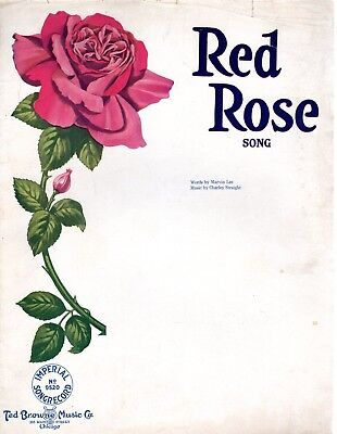 Large Format - Red Rose, 1918, by Marvin Lee and Charley Straight