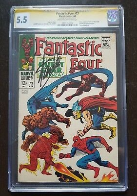 Fantastic Four #73 CGC 5.5 SS Signed By Stan Lee (Apr 1968, Marvel)