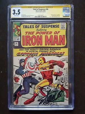 Tales of Suspense #58 CGC 3.5 SS Signed by Stan Lee (Oct 1964, Marvel)