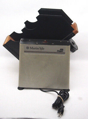 MARTIN YALE 400 SERIES TABLETOP PAPER JOGGER, Tested, Made In USA!