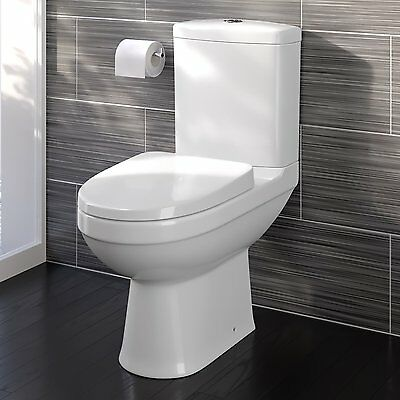 Close Toilet Seat Soft Cistern Coupled WC Pan And Couple Bathroom White Ceramic