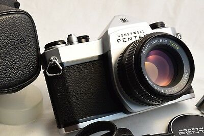 Pentax Spotmatic SP1000 w/ SMC Takumar 1:2/55mm Lens/Case - TESTED EXC++