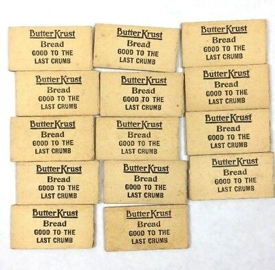 14 Vintage Butter Krust Bread Wooden Dominoes Advertising Promo Wood Domino