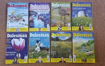8 x Dalesman Magazines, 2017 & 2018 publications only £3.