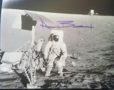 Alan Bean 4th astronaut on the moon autographed photo with COA