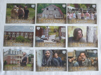 Walking Dead Road to Alexandria 9 Factions Chase Cards F-1 to F-3,F-5 to F-10