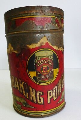 Antique Royal Baking Powder Spice Tin 12 oz Vintage Advertising Kitchen Decor