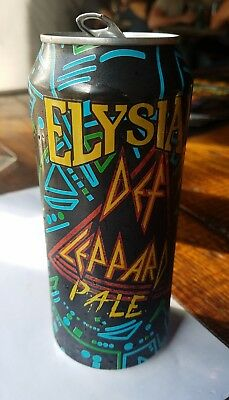 Elysian Def Leppard beer can Limited Edition