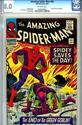 Amazing Spider-Man #40 CGC/CBCS GRADED 8.0- white pages - origin of Green Goblin