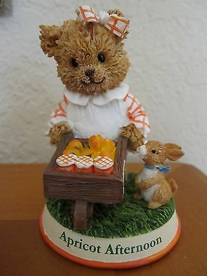 """1999 Smucker's Berry Patch Bears """"Apricot Afternoon"""" Collectible Figurine"""