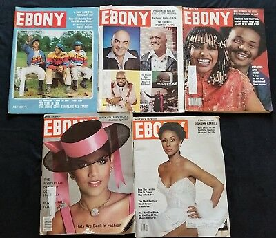 Lot of 5 1970s EBONY MAGAZINES July May 1976 April June November 1979 FREE SHIP