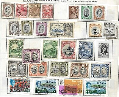 Small collection of mostly used Grenada stamps, incl Scott #162