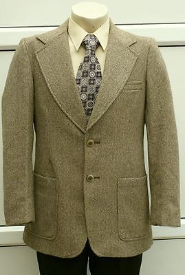 HODGES VINTAGE 60's 70's TWEED PATCH  POCKET COUNTRY TAILORED JACKET 38-39 R VGC