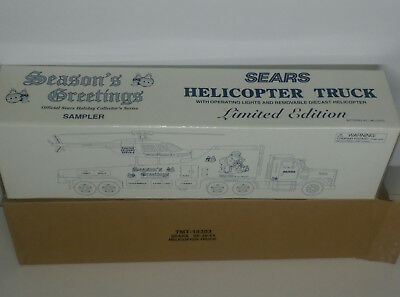 2000 Sears Helicopter sampler Truck TMT NEW IN BOX , 1 OF1004 Made
