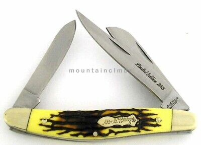 Schrade Uncle Henry Rancher Premium Stockman Delrin Stag Handle 2016 Knife 897UH