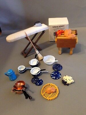 1:12 Kitchen Lot - Furniture, Food, Pots & Pans, Accessories - MANY PHOTOS!