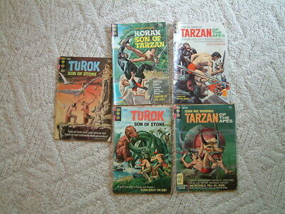 Tarzan of the apes Comics #167,195, Korak #36, 65,75. 5 in all