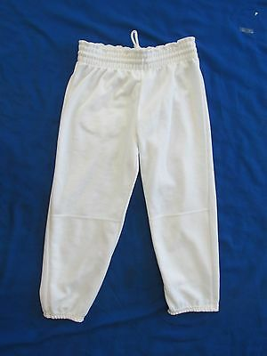 Don Alleson Athletic Pants White Youth Size Large Softball Baseball Polyester